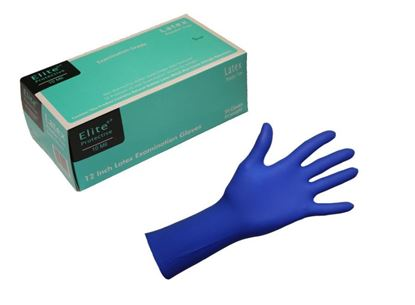 "Picture of High-Risk 12"" Latex Gloves - 10 mil"