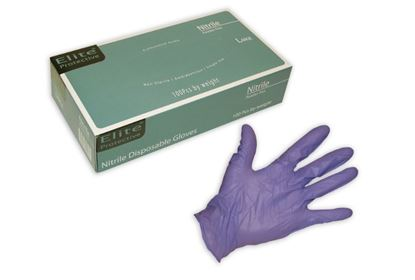 Picture of Elite Indigo Blue Nitrile Industrial Grade Glove