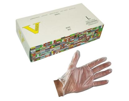 Picture of VTouch Vinyl Clear Industrial Grade Glove - Lightly Powdered