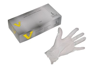 Picture of VStretch Vinyl White Stretch Industrial Grade Glove