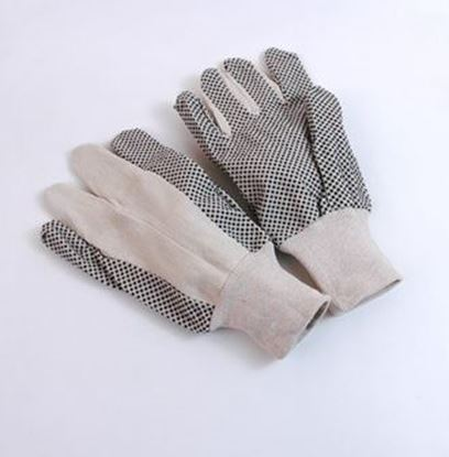 Picture of 8 oz Black PVC Cotton Canvas Gloves - Straight Thumb