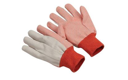 Picture of Canvas Gloves - Orange PVC Dots