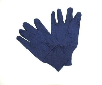 Picture of Heavyweight Blue Jersey Gloves - 100% Cotton