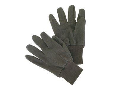 Picture of Brown Jersey Mens Gloves - Mini PVC Dots