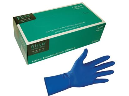 "Picture of High-Risk 12"" Latex Gloves - 13 mil"