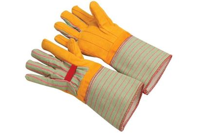 Picture of Yellow Two Layer Chore Gloves - Gauntlet Cuff