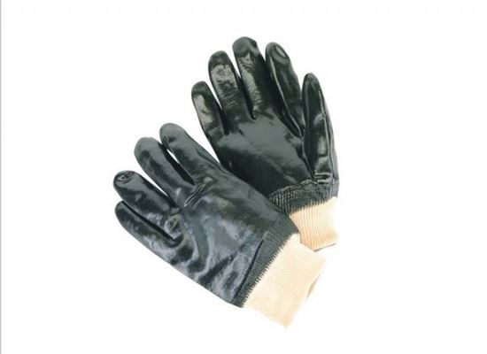 Picture of Single Dipped Black PVC Gloves - Smooth Finish