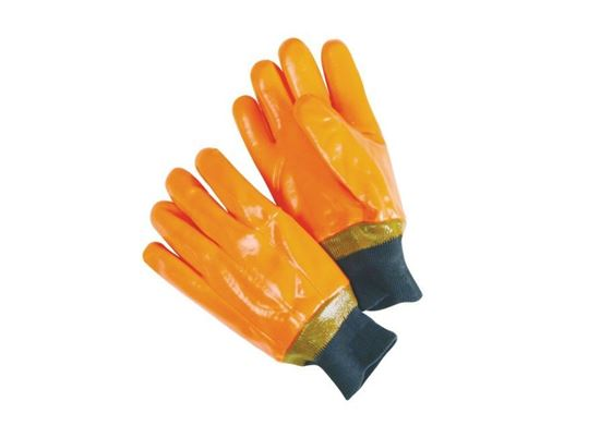 Picture of Fluorescent Orange Foam Lined Glove - Smooth Finish
