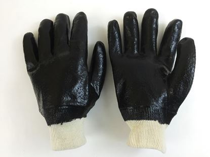 Picture of Single Dipped Black PVC Gloves - Rough Finish