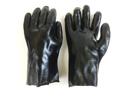 Picture of Black Dip Glove - 10 Inch Gauntlett Cuff Smooth Finish