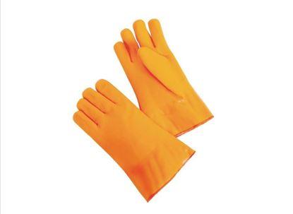 "Picture of 12"" Fluorescent Orange Foam Lined Glove - Gauntlet"