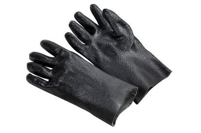 Picture of Black Dip Glove - 12 Inch Gauntlett Cuff Rough Finish