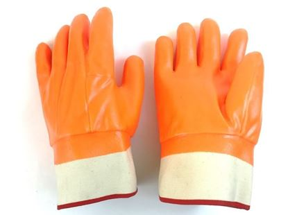 Picture of Fluorescent Orange Foam Lined Double Dipped Glove