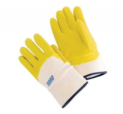Picture of Economy Palm coated Rubber Gloves - Safety Cuff