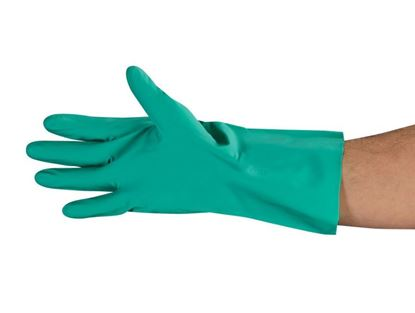 Picture of Green Unlined Nitrile Gloves - 11 mil