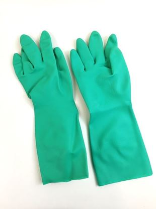 """Picture of Green Unlined 15"""" Nitrile Gloves - 22 mil"""