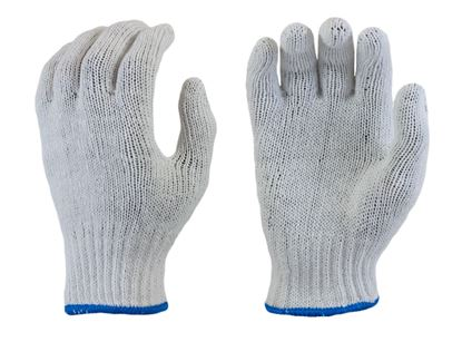 Picture of Bleached White String Knit Gloves