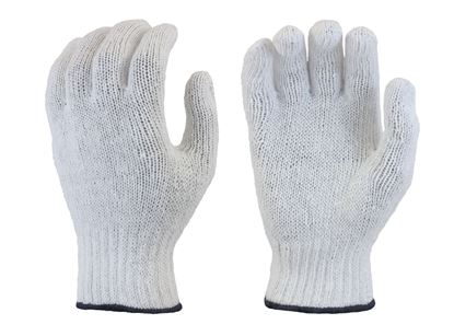 Picture of Bleached White String Knit Glove - Polyester/Cotton