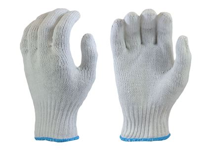 Picture of Bleached White 100% Poly String Knit Glove