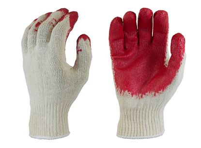 Picture of Red Latex Coated Palm Gloves - Natural Knit Color Liner