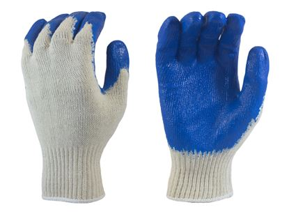 Picture of Blue Latex Coated Palm - Natural Color Knit Liner