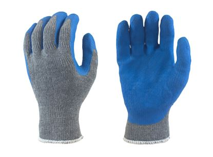 Picture of Blue Latex Coated Palm - Grey/Cotton Poly Knit Liner