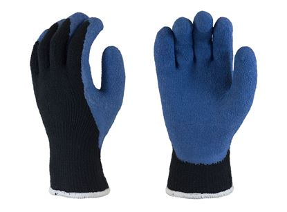 Picture of Blue Latex Coated Palm Gloves - Black Thermal Liner