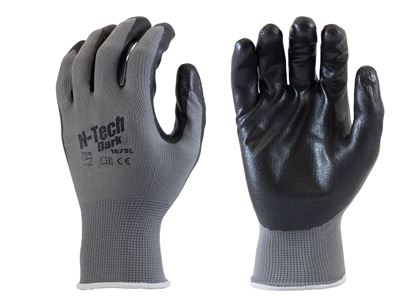 Picture of Black Foam Nitrile Coated Palm Gloves - Grey Nylon Liner