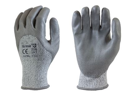 Picture of Grey PU Coated Palm Gloves - HPPE Fiber Liner