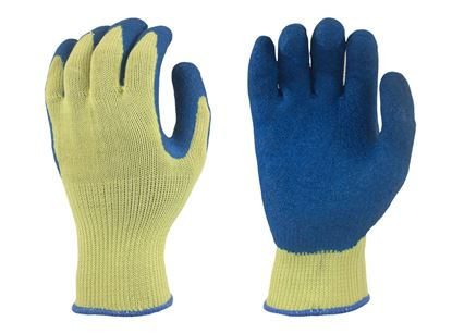 Picture of Atlas® Blue Rubber Coated Palm Gloves - Grey/Cotton Poly Liner
