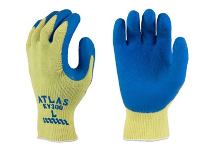 Picture of Atlas® Blue Rubber Coated Gloves - Kevlar String Knit Liner