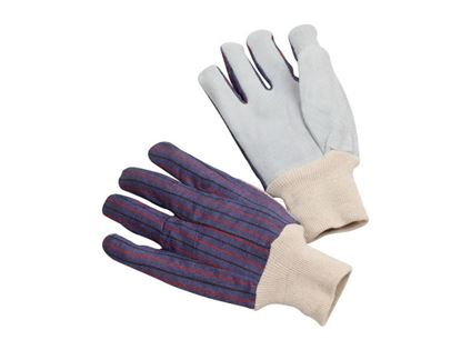 Picture of Clute Pattern Leather Palm Glove - Cotton Lining Women