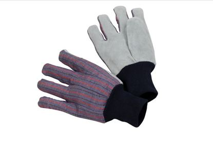 Picture of Clute Pattern Leather Palm Glove - Blue Knit Wrist