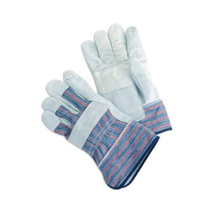 Picture of Leather Patch Palm Gloves - 2 1/2 Inch Starched Safety Cuff