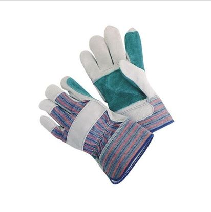 Picture of Premium Grade Green Double Leather Palm Gloves