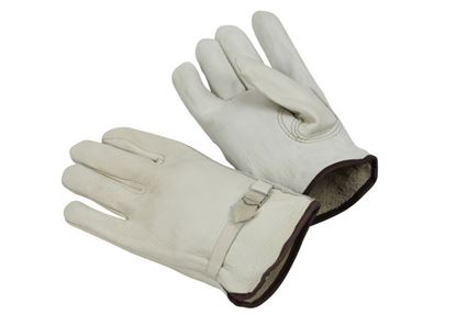 Picture of Cow Grain Leather Gloves - Leather Pull Straight Keystone Thumb
