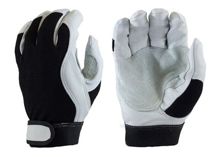 Picture of Goat Leather Mechanics Gloves - Velcro Wrist