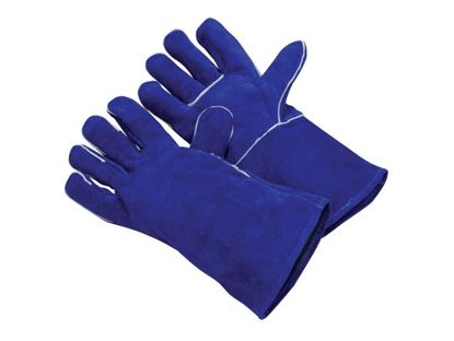 Picture of Ladies Blue Side Leather Welding Gloves - Wing Thumb