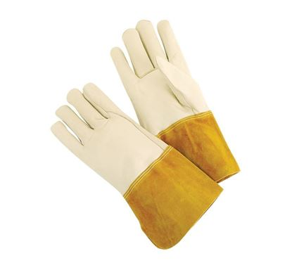 Picture of Cow Grain Leather Welders Gloves - 4.5 Inch Gauntlet Split