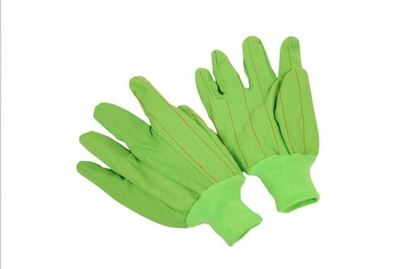 Picture of Lime Green Double Palm Gloves - 100% Cord