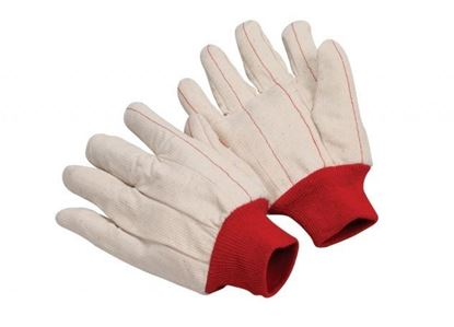 Picture of Double Palm Corded Gloves - Red Knit Wrist