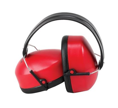 Picture of Ear Muffs with Red Ear Cups - NRR 27db