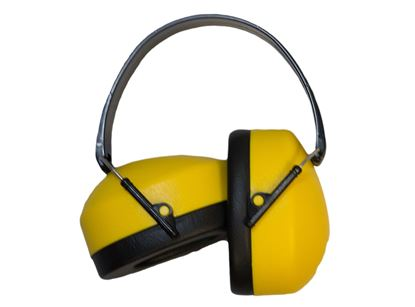 Picture of Ear Muffs with Yellow Ear Cups, NRR 37db