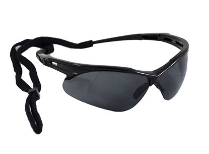 Picture of Arrow Safety Glasses - Black Frame with Cord