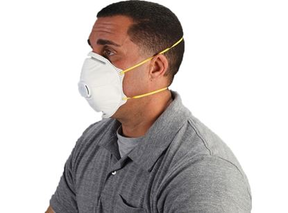 Picture of N95 Particulate Dust Masks - Exhale Valve Double Straps
