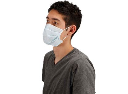 Picture of Blue Face Masks Pleated Ear Loop - 20 boxes / case