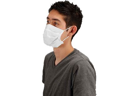 Picture of White Pleated Face Masks - Ear Loop