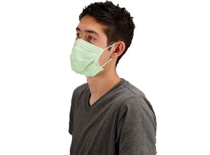 Picture of Green Pleated Face Masks - Ear Loop