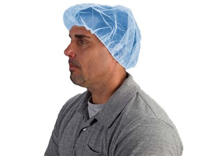 Picture of 21 Inch Blue Nylon Hair Net