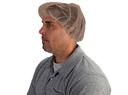 Picture of 22 Inch Brown Nylon Hair Net